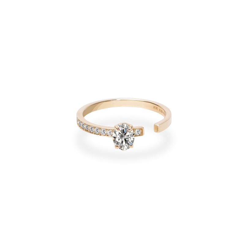 0.3ct Oval Gap Ring [feat. Diamond Foundry] - PRMAL