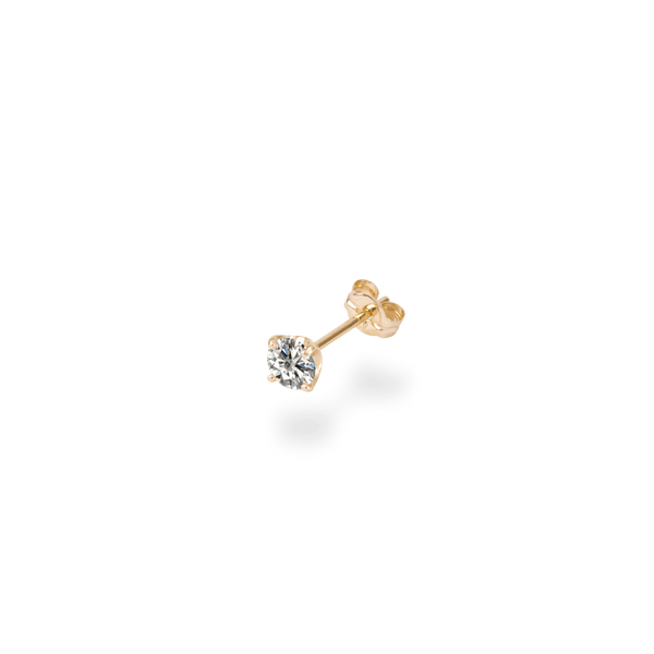 0.3ct Solitaire Diamond Studs(single) - PRMAL