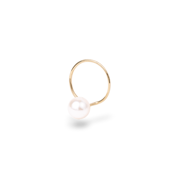 Catchless Pearl Hoop Earring(single) - PRMAL