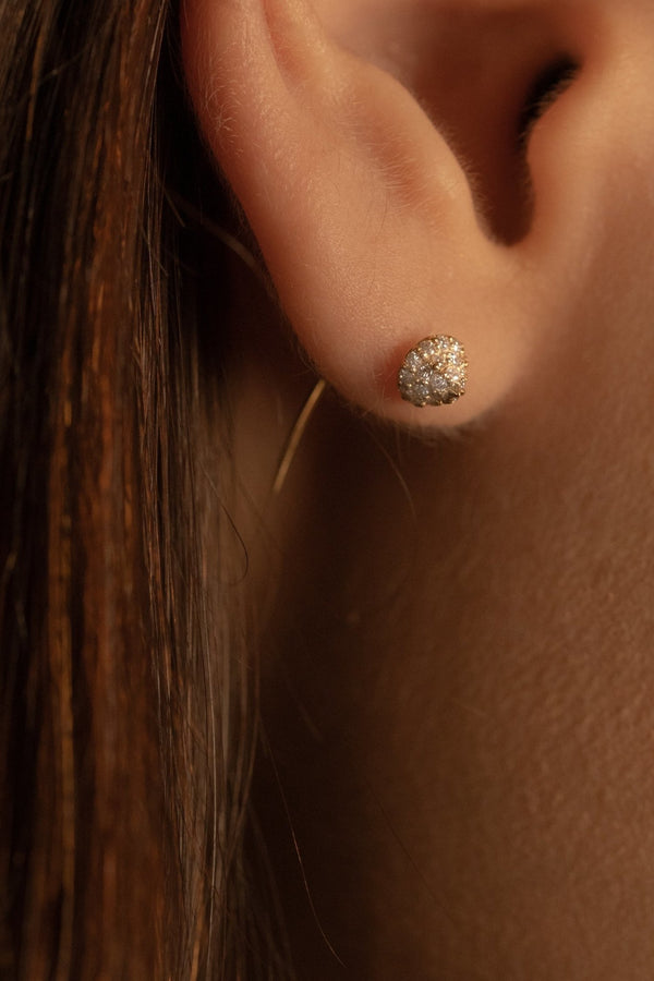 Diamond Stud Tail Earring - PRMAL