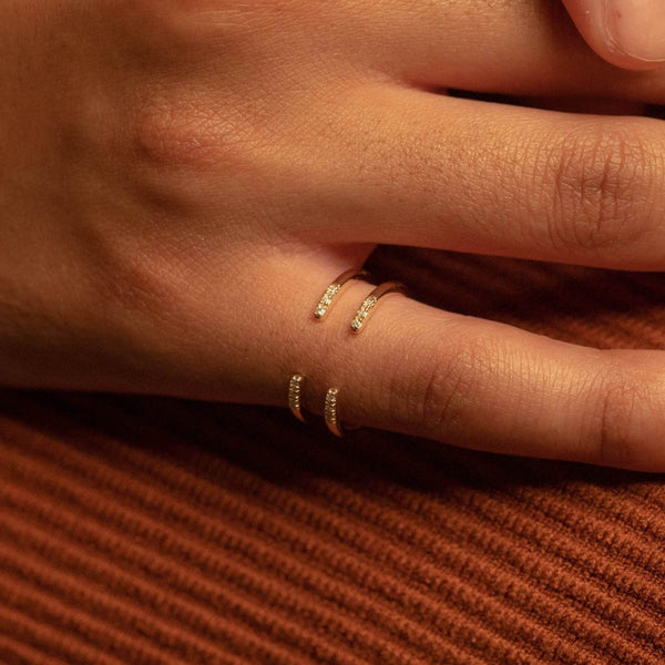 Double Pave Open Ring - PRMAL