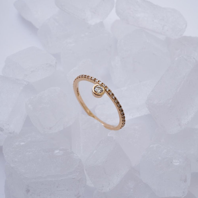 Floating Bezel Diamond Ring - PRMAL