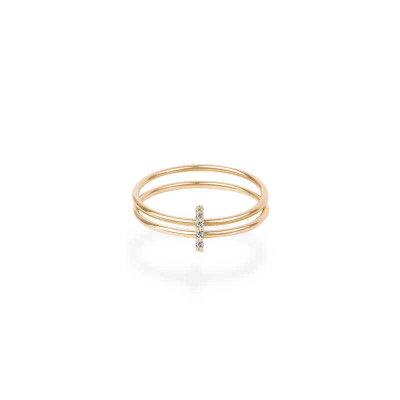 Half Square Stacking Ring - PRMAL