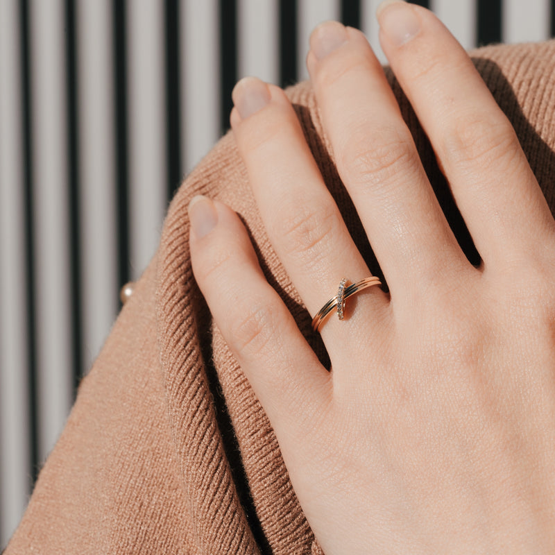 Half Square Stacking Ring