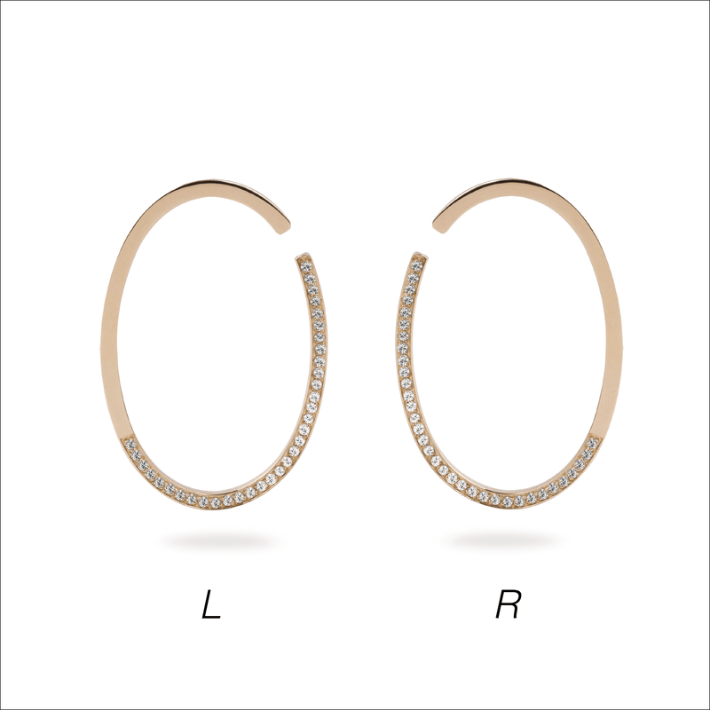 Oval Asymmetry Ear Cuff L - PRMAL