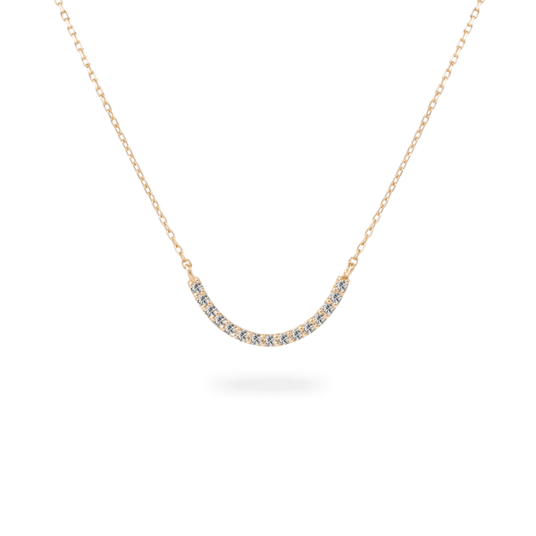 Pave Curve Necklace - PRMAL