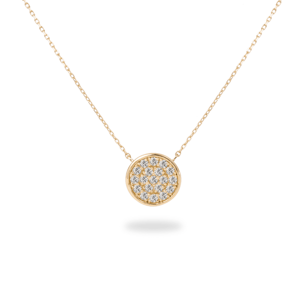 Pave Disk Necklace - PRMAL