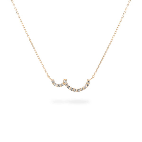 Pave Double Curve Necklace - PRMAL