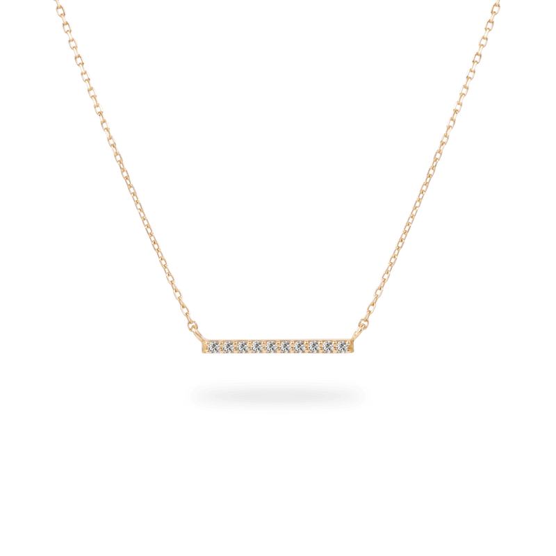 Pave Line Necklace - PRMAL