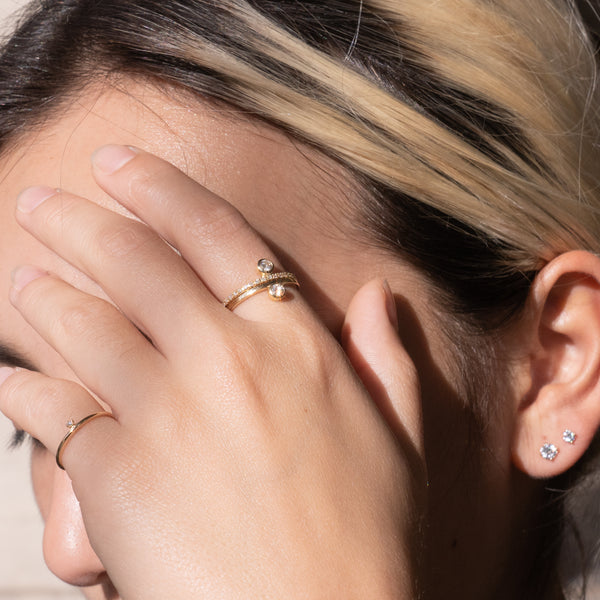 Skinny Tiny Diamond Ring