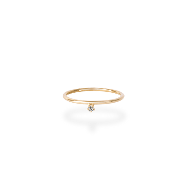 Skinny Tiny Diamond Ring - PRMAL
