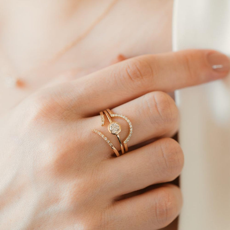 Stacking Half Circle Ring - PRMAL