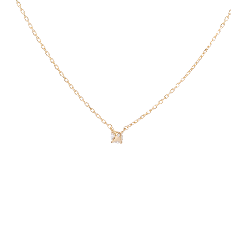 0.1ct Solitaire Diamond Necklace