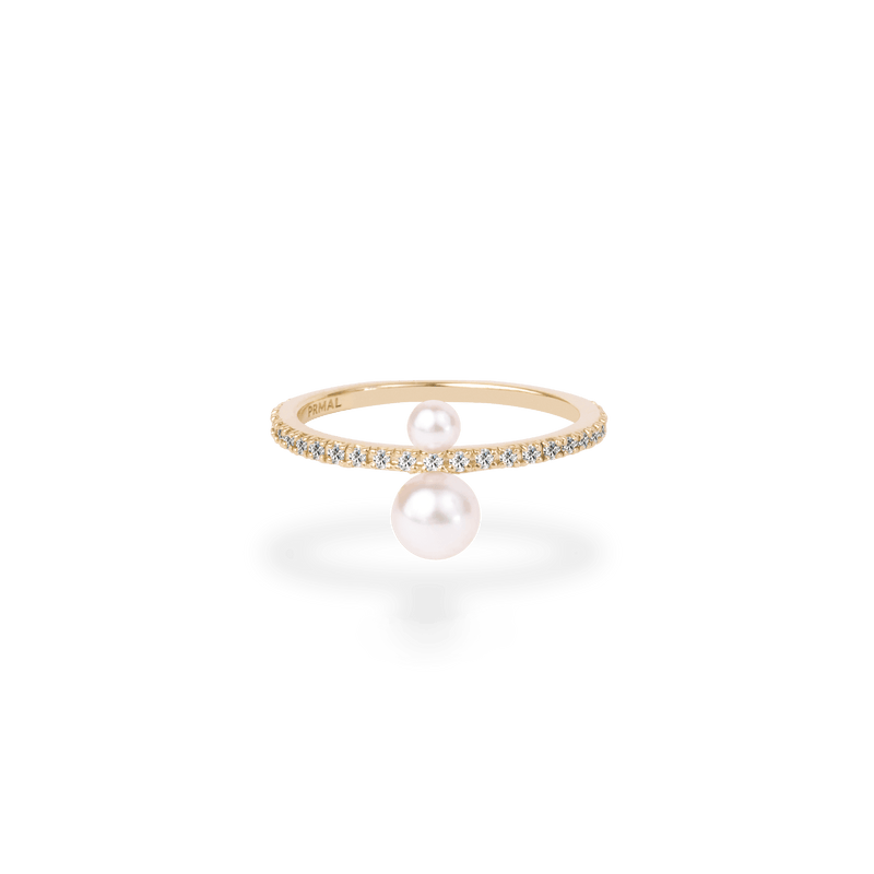 Twin Pearl Pave Ring - PRMAL
