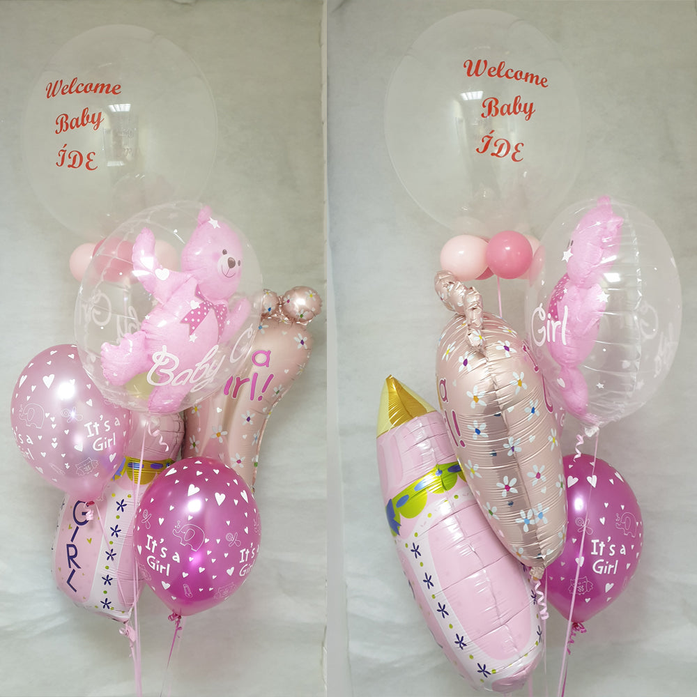 Balloon Bouquet 022 - New Baby