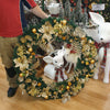 110cm Wreath with Gold decorations