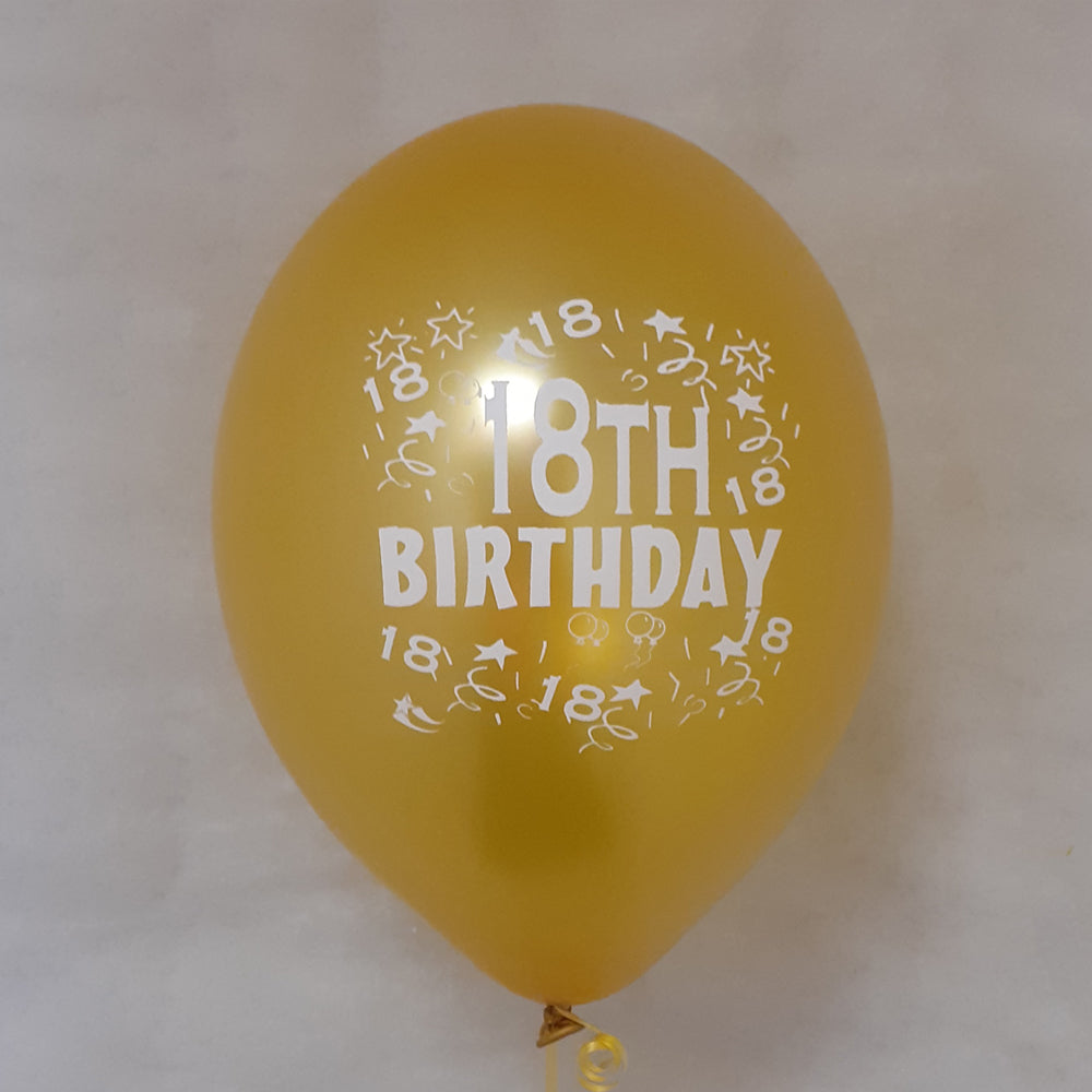 Happy 18th Birthday Printed Balloons