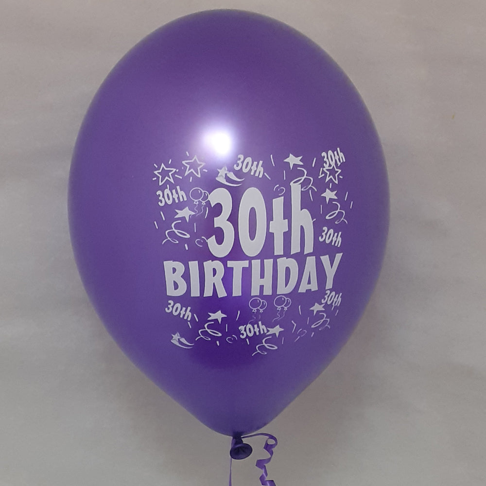 Happy 30th Birthday Printed Balloons