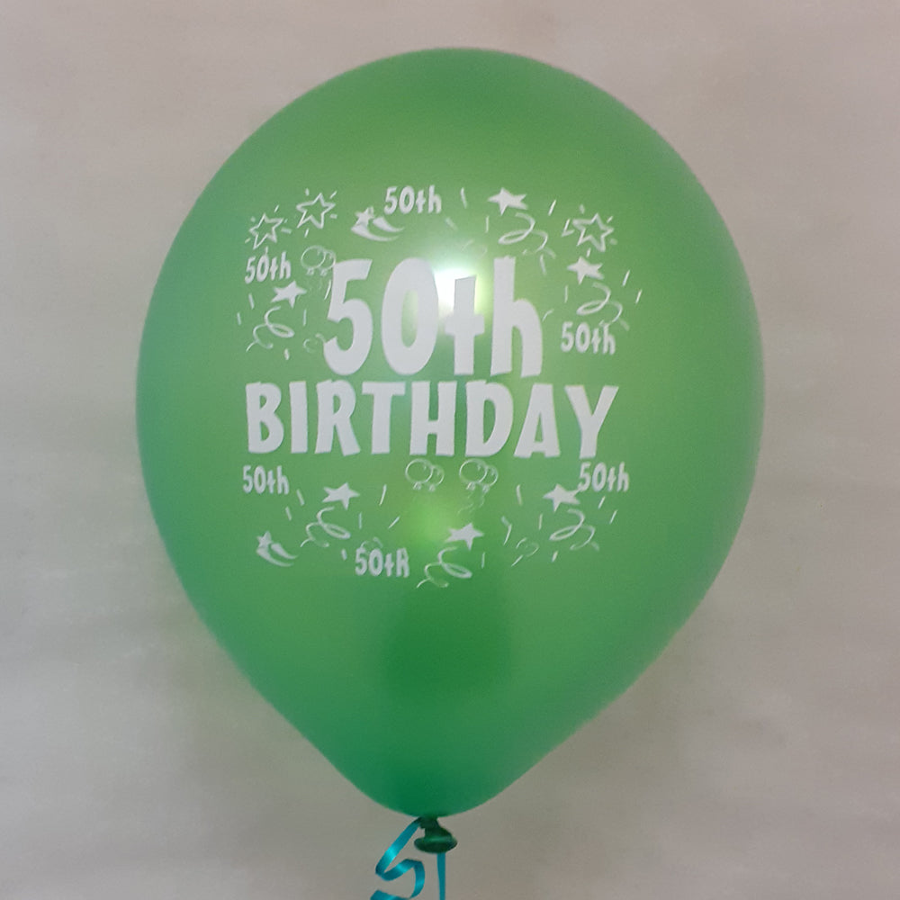 Happy 50th Birthday Printed Balloons