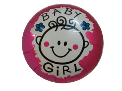 It's a girl - baby girl face - supplied uninflated