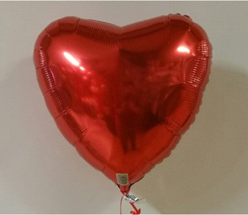 Red Heart Shaped Balloon - uninflated