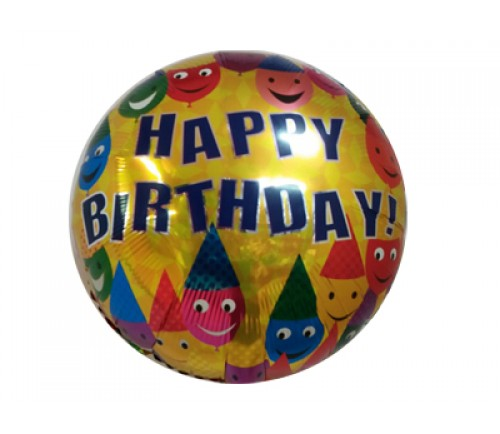 "18"" Birthday Candles Foil Round Balloon"