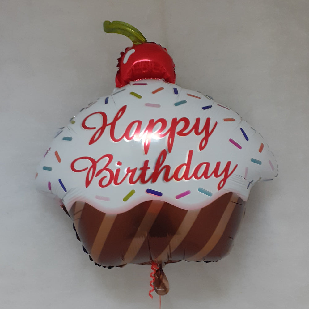 Birthday Cupcake Balloon - uninflated