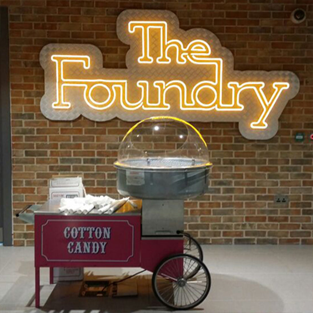 Candyfloss machine with 100 servings