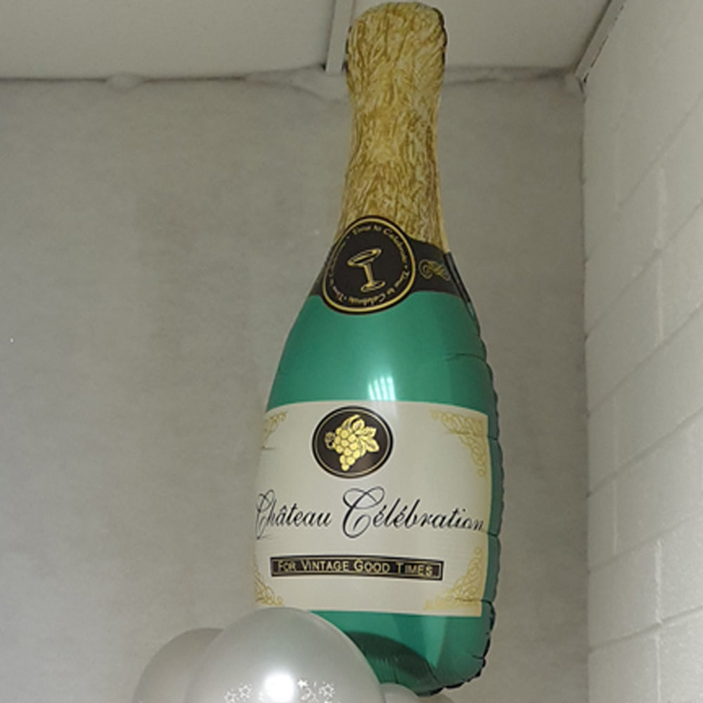 Champagne Bottle Balloon - uninflated