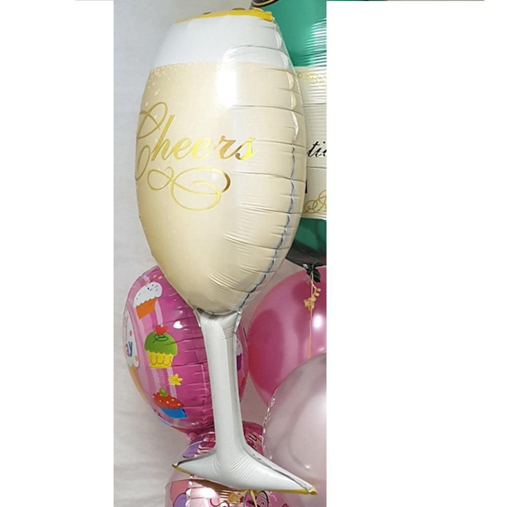 Champagne Glass Balloon - uninflated
