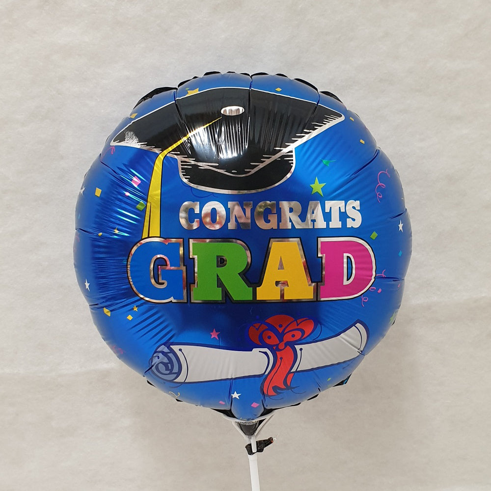 Congratulations Grad Balloon - blue - uninflated