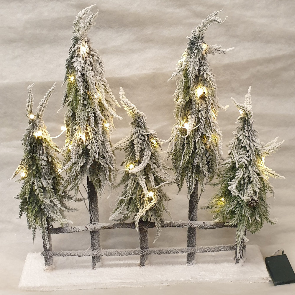 5 x Forrest Trees with Battery lights