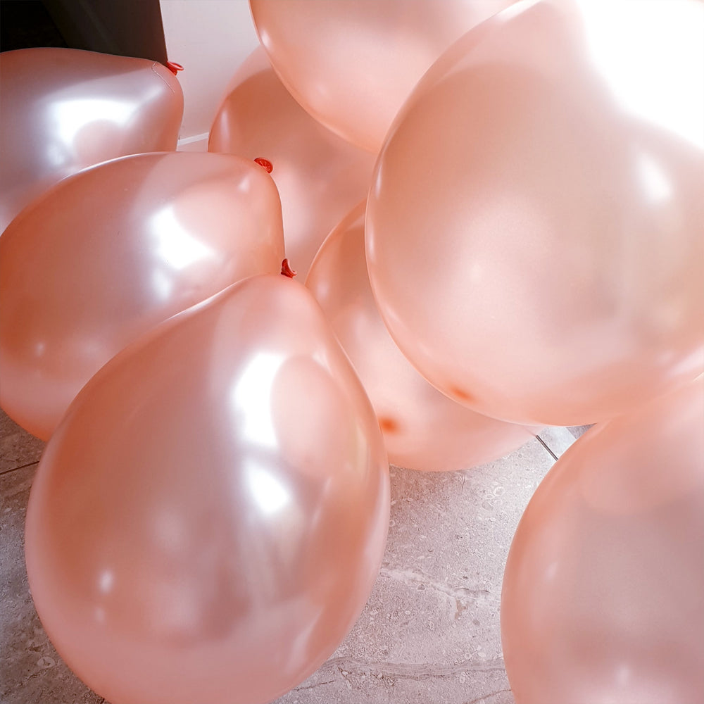 Rose Gold Balloons - E93 Bag of 50 Eire Pearlised Balloons