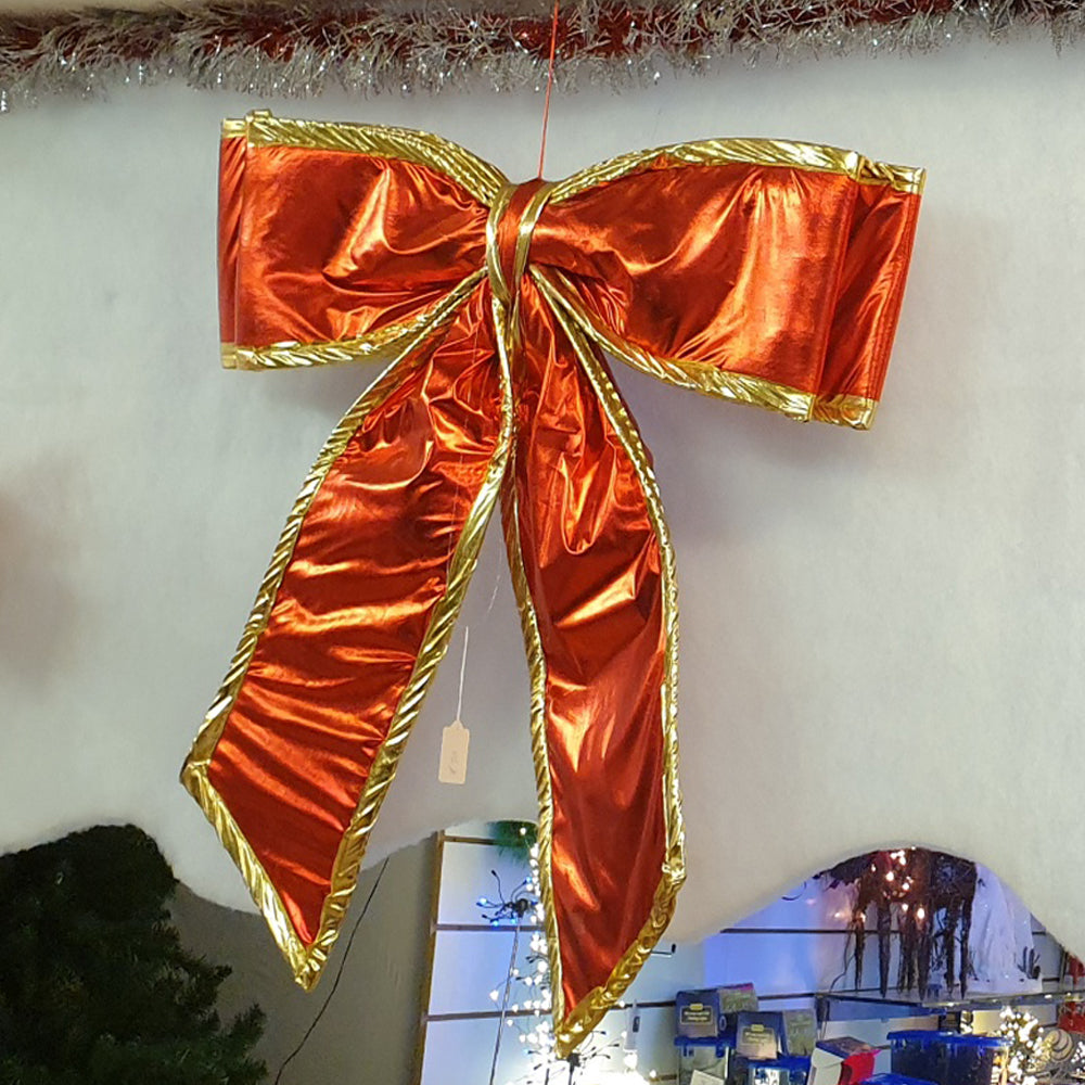 Extra Large Red & Gold Bow