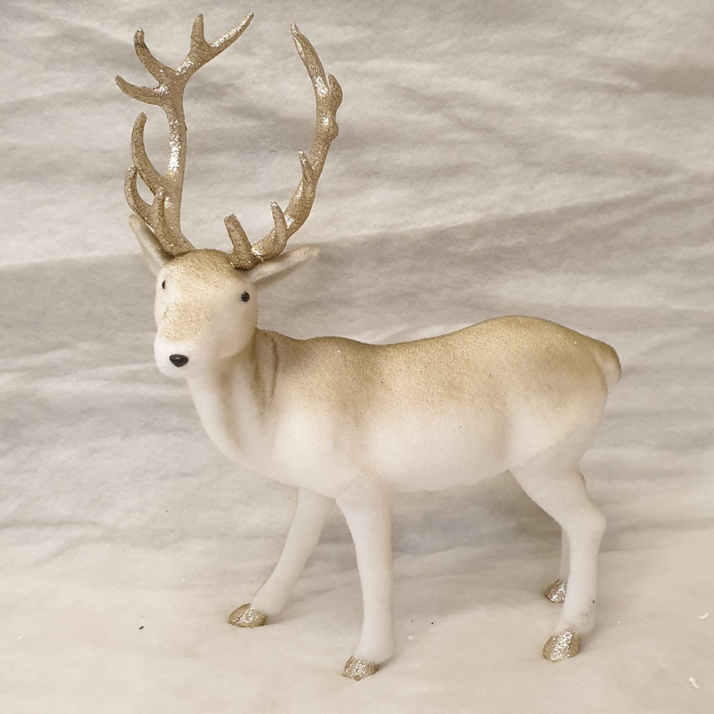 Gold and white Reindeer