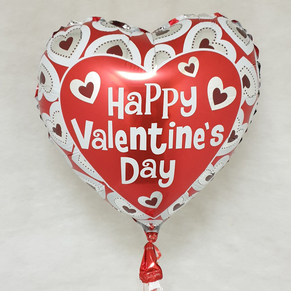 Happy Valentines day Balloon - red - Uninflated