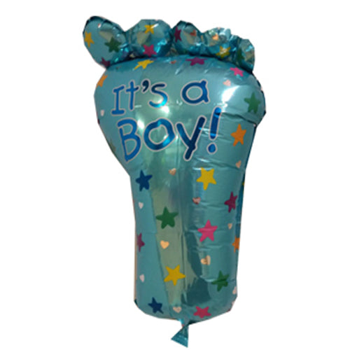 Its a boy foot shape foil balloon