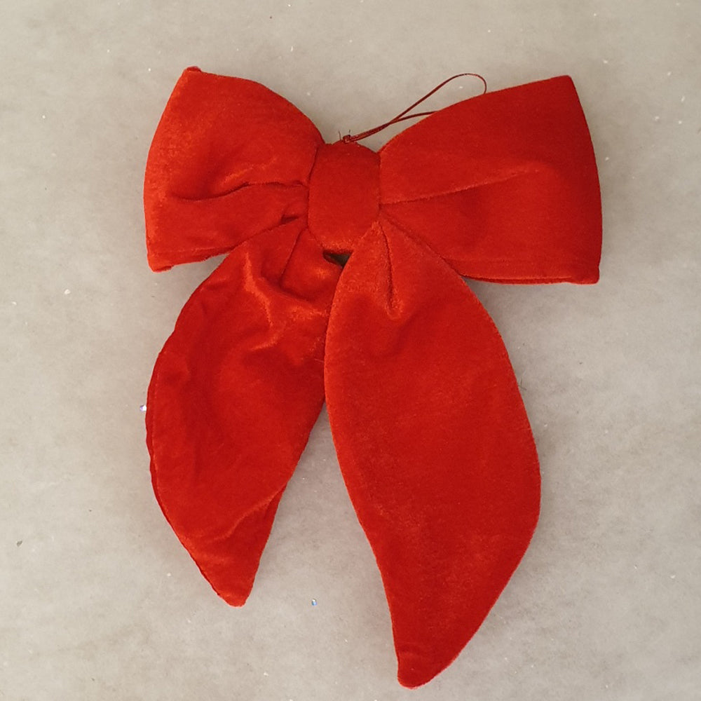 Large Red Velvet Bow