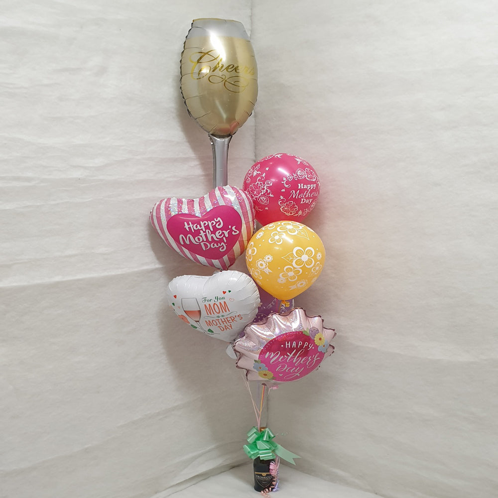 Mothers Day Balloons with Prosecco