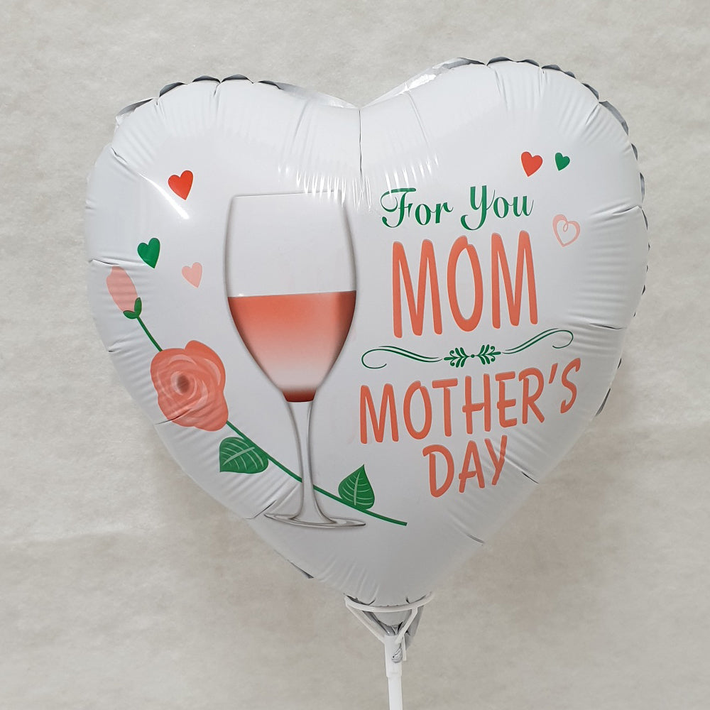 Mothers Day Round Foil Balloon - uninflated