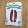 "Pink Number 0 Balloon - 42"" foil Balloon - uninflated"