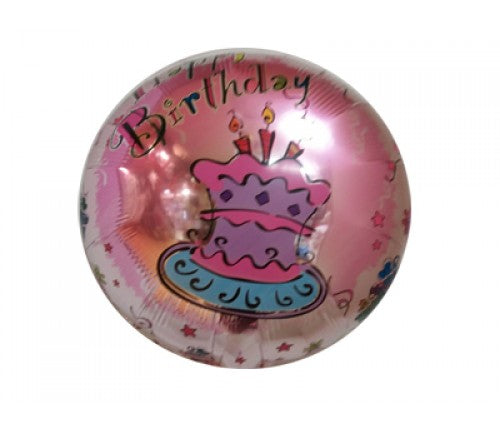 Happy Birthday Balloon - Pink Cake - uninflated