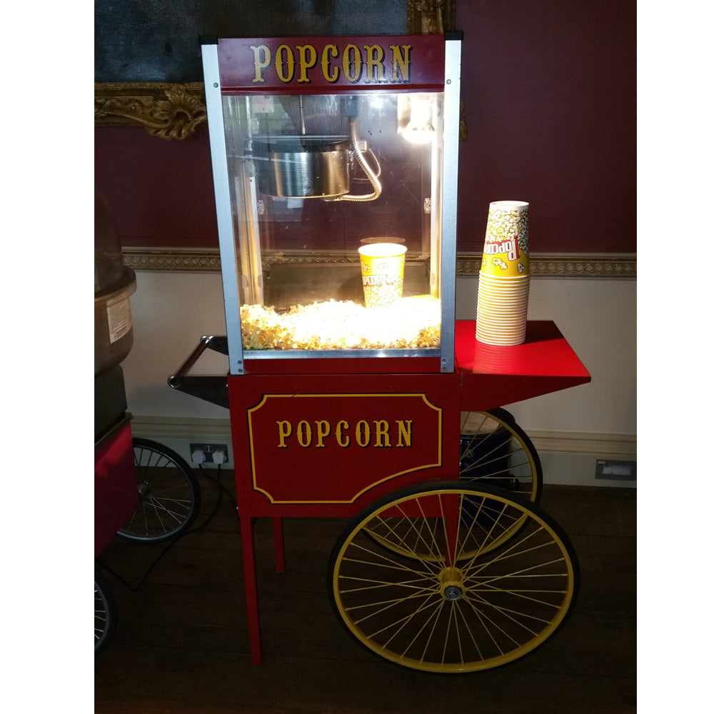 Popcorn machine with 100 servings