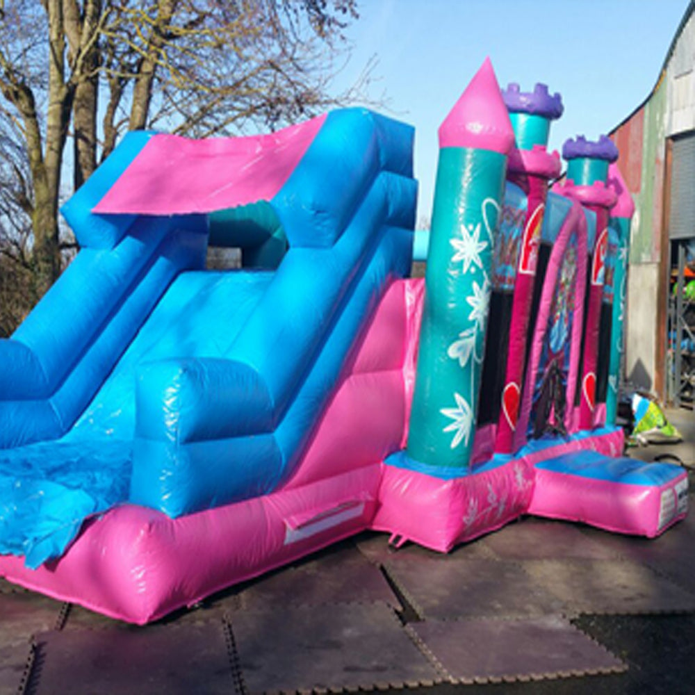 Pink princess castle with slide to side #26