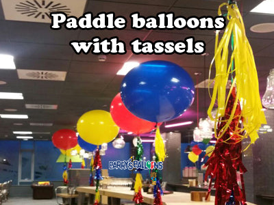 Paddle Balloons with Tassels