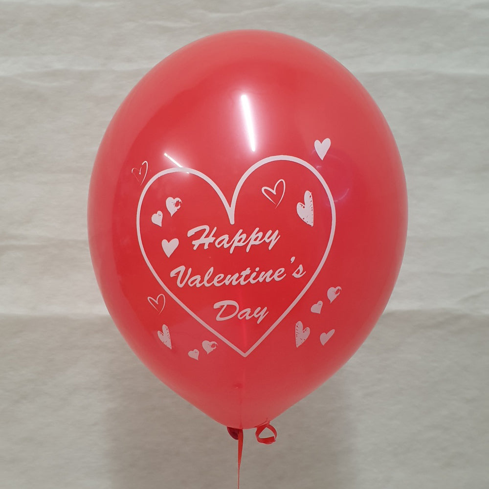 Happy Valentines Day Printed Balloons