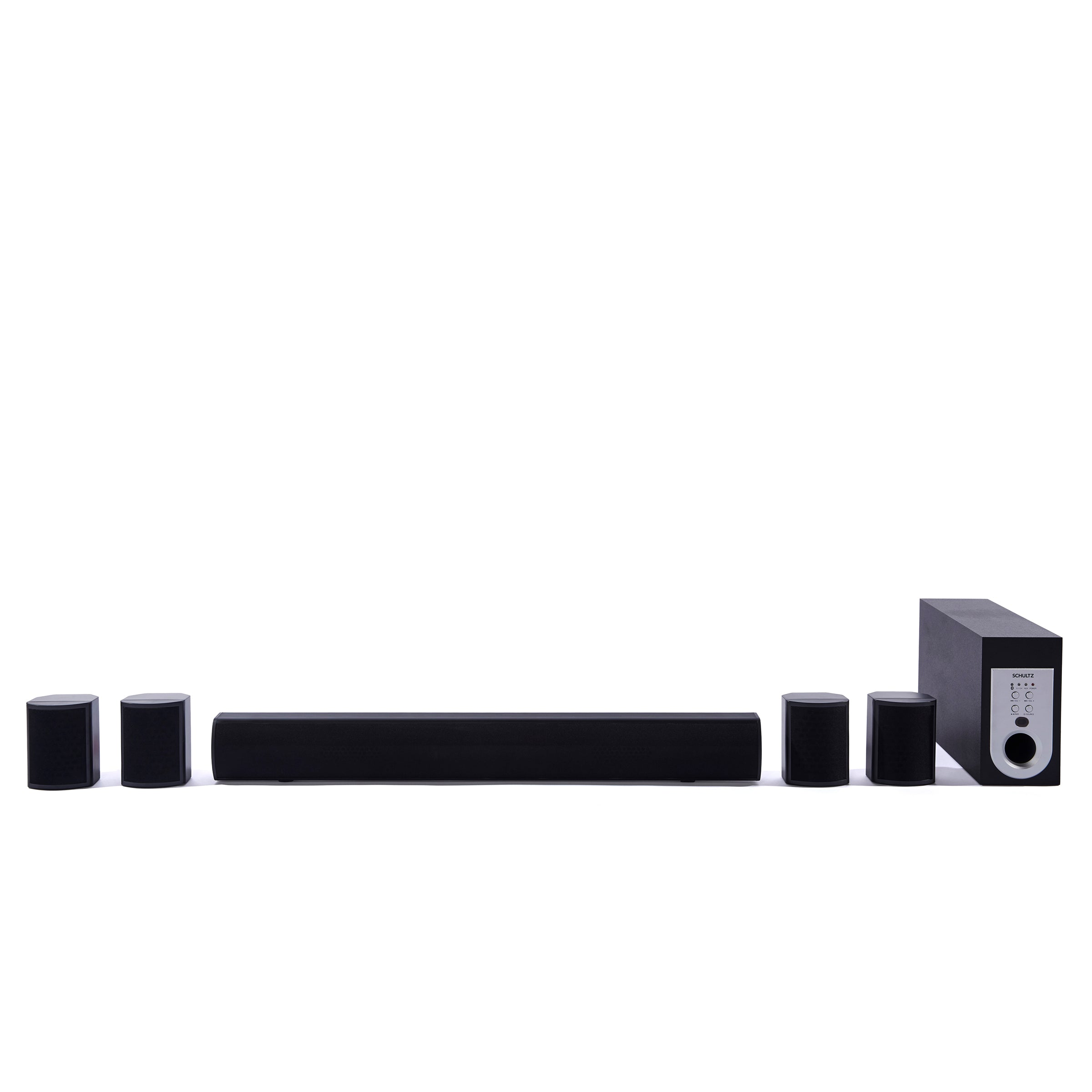 Schultz Sonus 5.1ch Bluetooth Soundbar and Subwoofer Home Theatre System