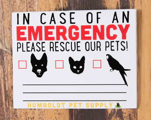 HPS Emergency Rescue Sticker