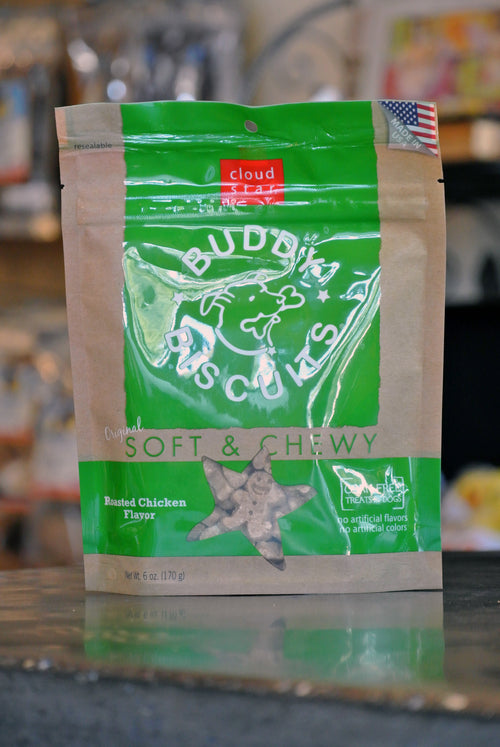 Cloud Star Soft & Chewy Chicken Buddy Biscuits for Dogs -- 6 oz bag