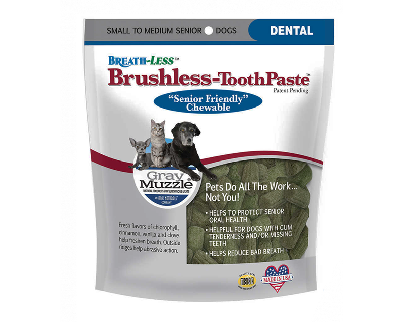 Ark Naturals Gray Muzzle Breath-Less Brushless Toothpaste for Seniors